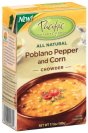 Poblano Pepper and Corn Chowder